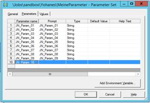 Dynamische Parameter 1