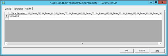 Dynamische Parameter 2